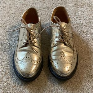 Urban Outfitters Gold Oxfords